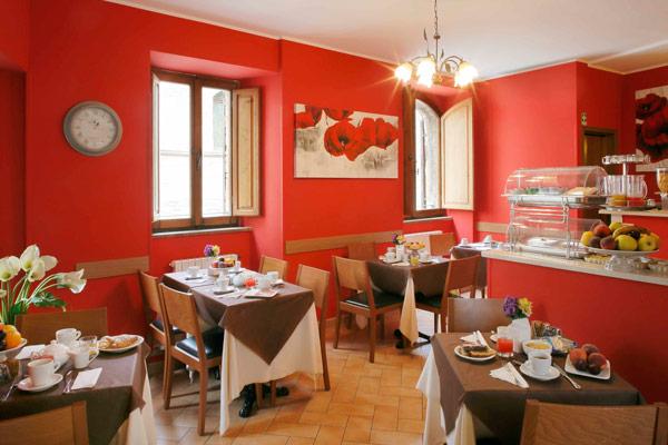 Hotel Properzio - Assisi - La sala colazioni
